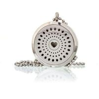 Aromatherapy Diffuser Pendant ~ Hearts 30mm