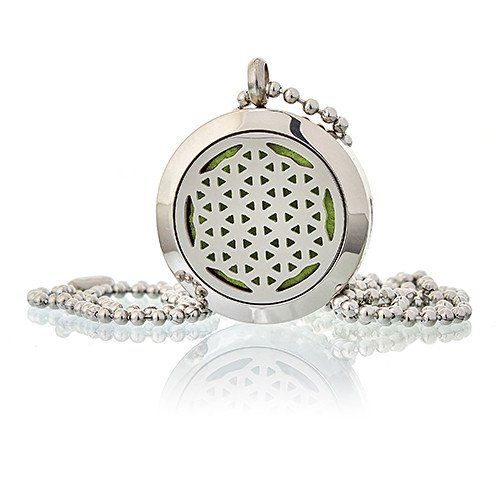 Aromatherapy Diffuser Necklace ~ Flower of Life 25mm
