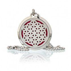 Aromatherapy Diffuser Pendant ~ Flower of Life 30mm