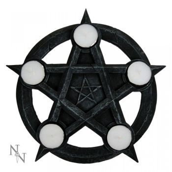 Pentagram T Light Holder 26cm