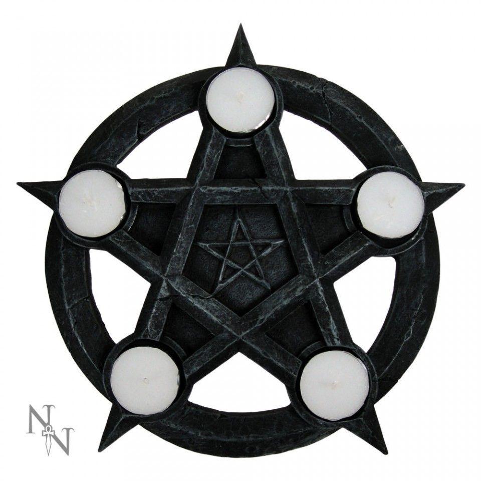 Pentagram T Light Holder 26cm