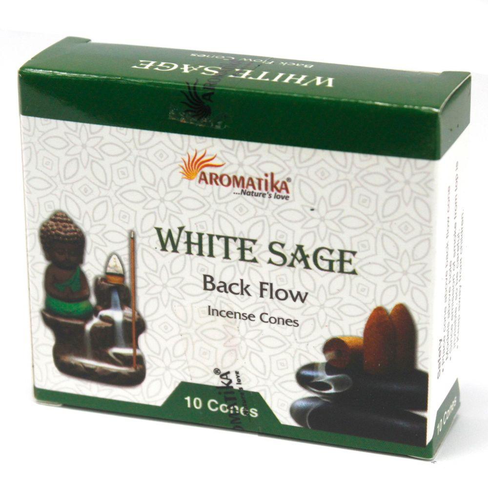 Back Flow Incense Cones ~ White Sage