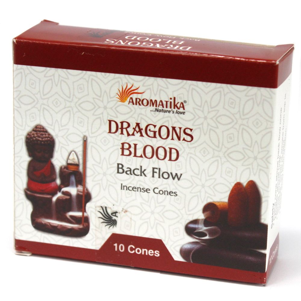Back Flow Incense Cones ~ Dragon Blood