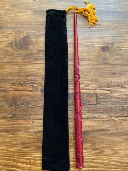 Hand Crafted Ivy Leaf Design Wood Wand #D