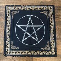 Black and Gold Pentagram Altar Cloth 65 cm x 65 cm