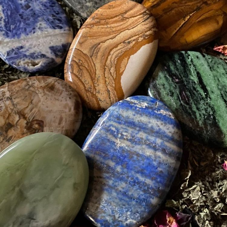 Crystal Palm Stones and Pebbles