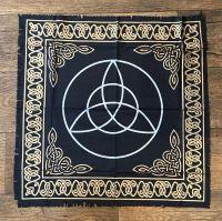 Black and Gold Triquetra Altar Cloth 65 cm x 65 cm