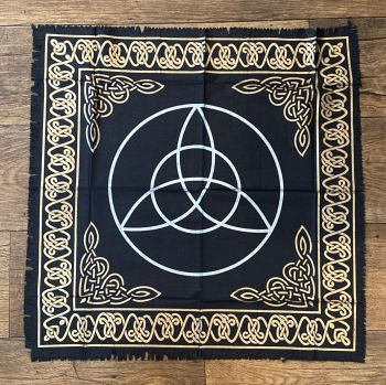 Black and Gold Triquetra Altar Cloth 65 cm x 65 cm