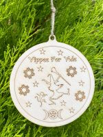 Hand Crafted Yippee for Yule Wooden Decoration