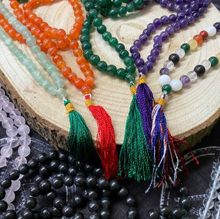 Crystal Mala and Prayer Beads