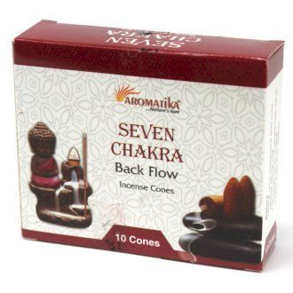 Back Flow Incense Cones  ~ Seven Chakra