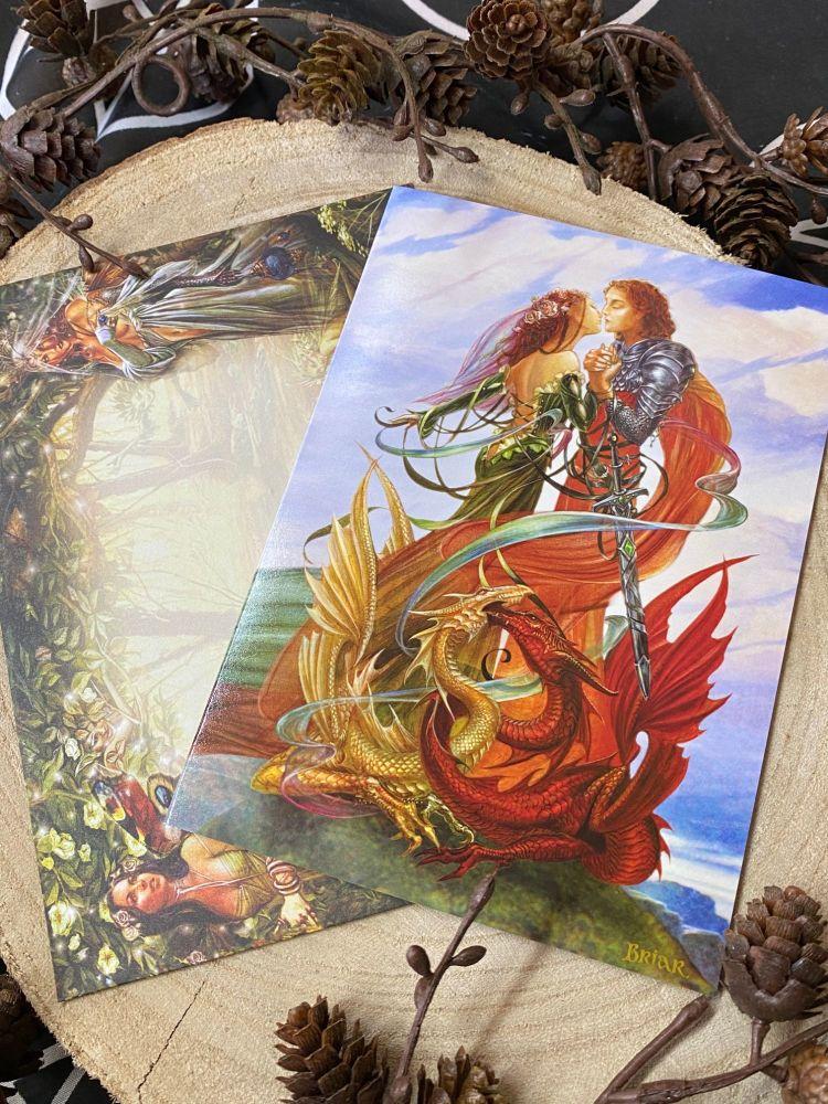 Dragon Handfasting Card by Briar