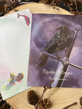 Raven Magic ~ Transformation ~ Greeting Card by Karin Roberts