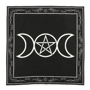 Triple Moon Altar Cloth 70 cm x 70 cm