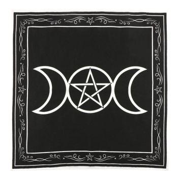 Triple Moon Altar Cloth 70 cm x 70 cm