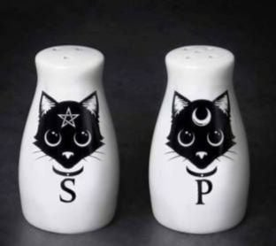 Black Cat Salt and Pepper Set by Alchemy