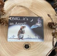 """""""OMG .. its An Angel ..."""" Miniature Metal Sign by Alchemy"""