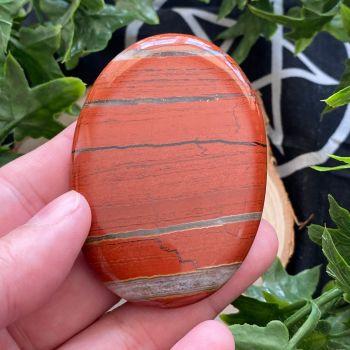 Red Jasper Palm Stone #A