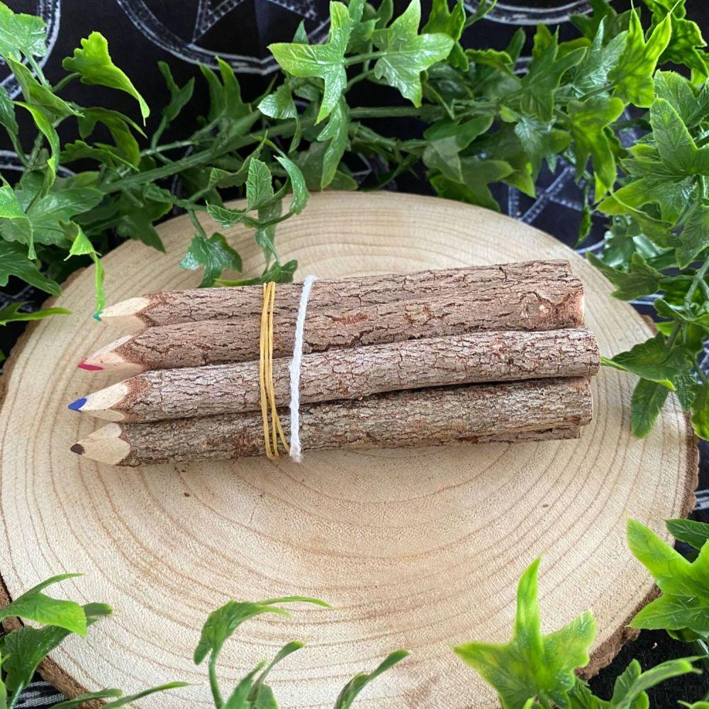 Set of Wooden Branch Pencils