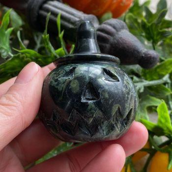 Carved Crystal Pumpkin ~ Kambaba Jasper
