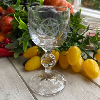 Cut Glass Crystal Chalice ~ Pentagram ~ Pre order available