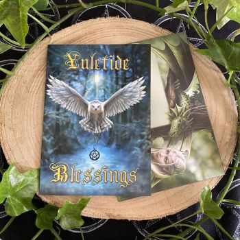 Awake Your Magic Yule Card by Anne Stokes