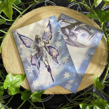 Snowflake Fairy ~  Yule Card by Anne Stokes