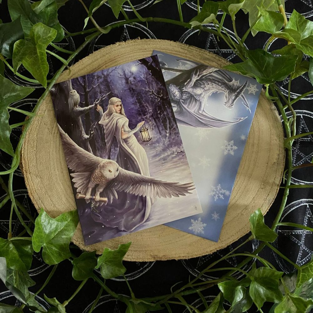 Midnight Messenger ~  Yule Card by Anne Stokes