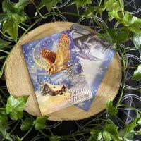 The Snow Bringer ~ Owl Christmas Card by Briar