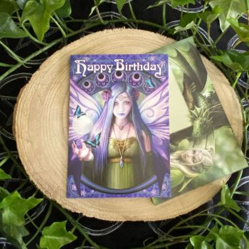 Mystic Aura Birthday Card by Anne Stokes