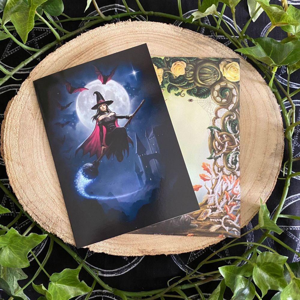 Witch Flight  ~ Greeting Card by James Ryman