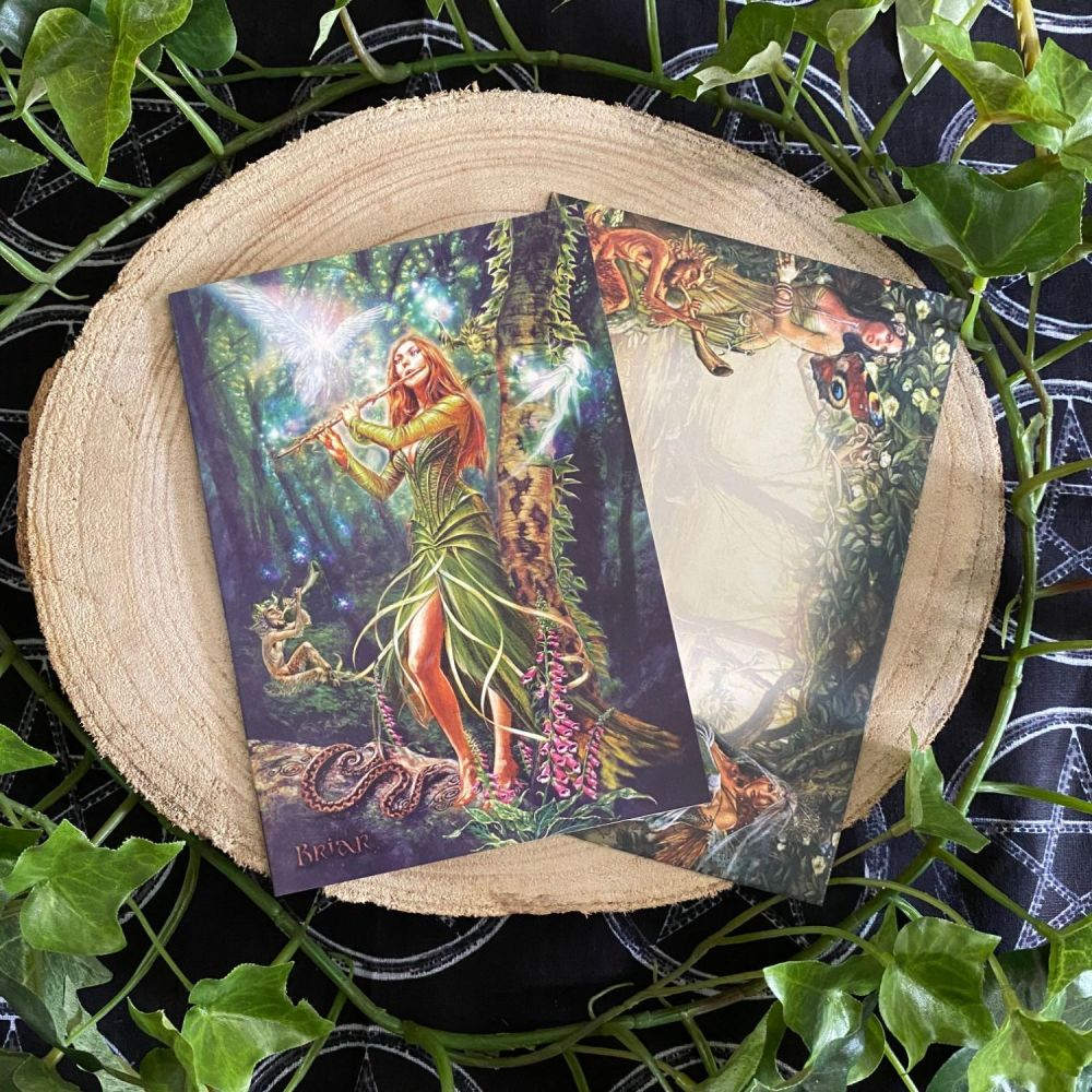 The Faerie Reel ~ Greeting Card by Briar