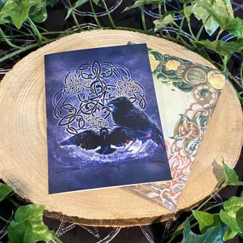 Celtic Raven ~ Greeting Card by Brigid Ashwood