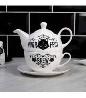 Purrfect  Brew Tea For One Set by Alchemy (RRP £24.99)