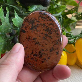 Mahogany Obsidian Palm Stone #4