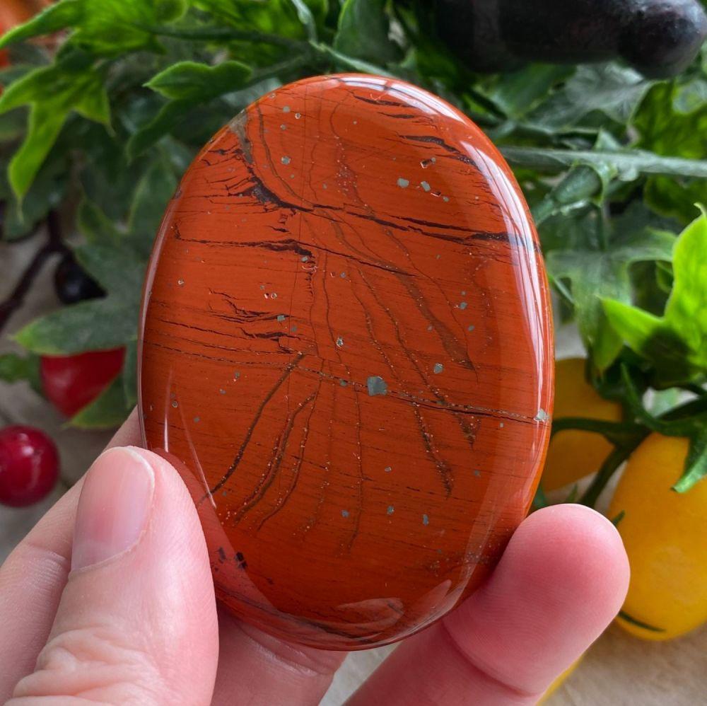 Red Jasper Palm Stone #A2