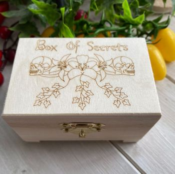 Box of Secrets ~ Cute wooden storage box