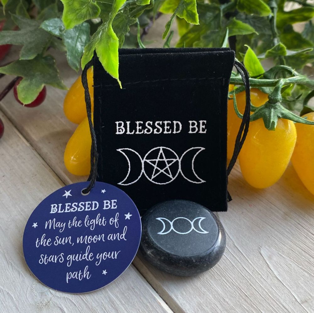 Blessed Be Triple Moon Charm