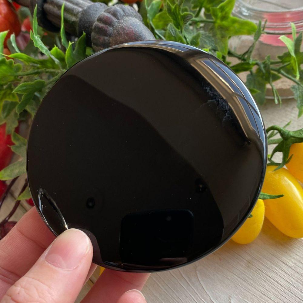 Black Obsidian Scrying Mirror ~ Large