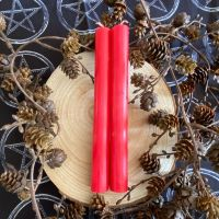 Dinner Candle Pair ~ 20cm Red