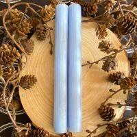 Dinner Candle Pair ~ 20cm Pale Blue