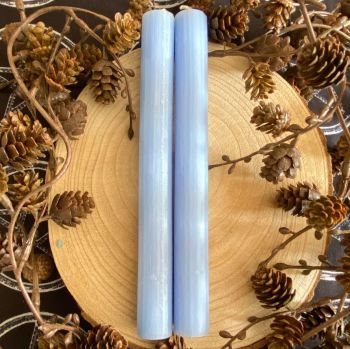 Dinner Candle Pair ~ 20cm Pale Blue