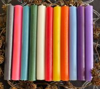 Dinner Candle 20cm ~ Pack of 10 mixed colours