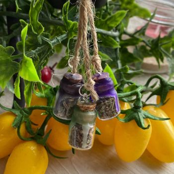 A Cute Amulet with Witches Bottles for Protection, Healing and Banishing Negativity