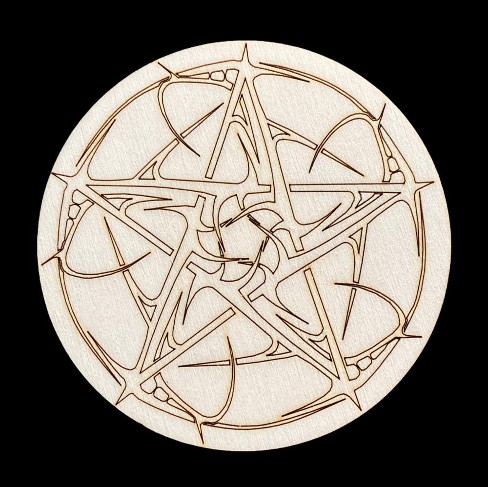 Altar Tile with Pentagram and Thorns design