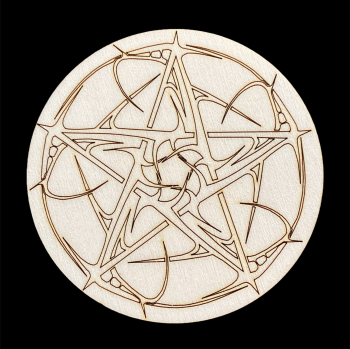 Decorative Pentagram Altar Tile