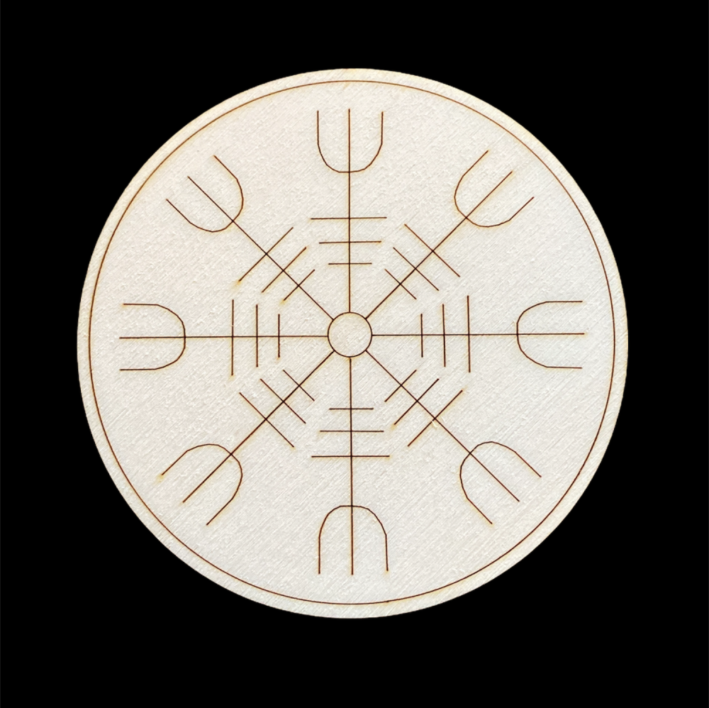 Altar Tile with The Helm of Awe ~ Viking Protection symbol