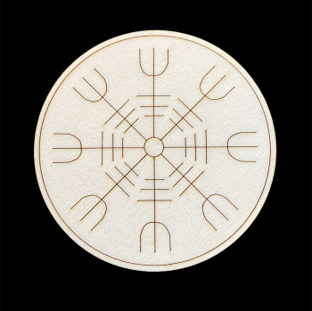 Helm of Awe Altar Tile ~ Viking Protection symbol