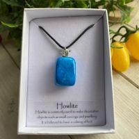 Howlite (Blue) Tumble Stone Pendant