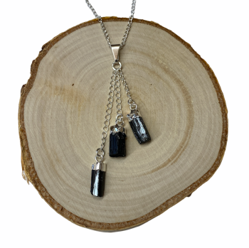 Black Tourmaline Trio Pendant